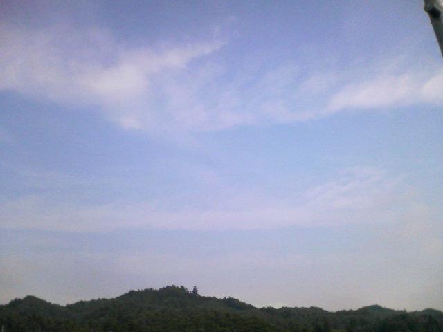 福島の空です…